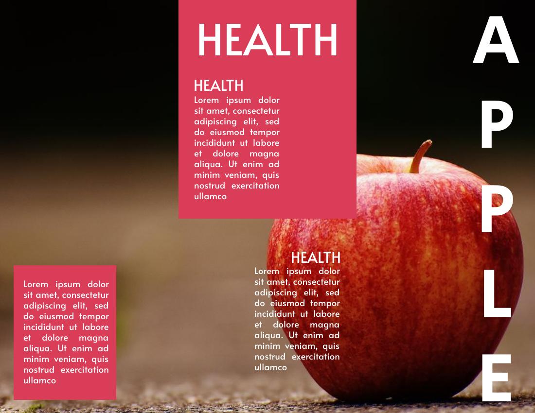 Brochure template: Apple Brochure (Created by InfoART's Brochure marker)