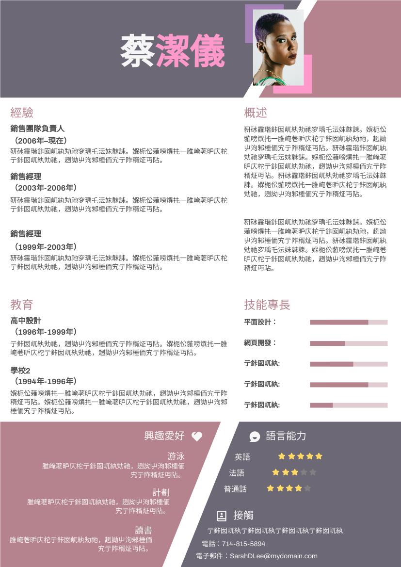 履歷表 template: 奇形簡歷 (Created by InfoART's 履歷表 maker)