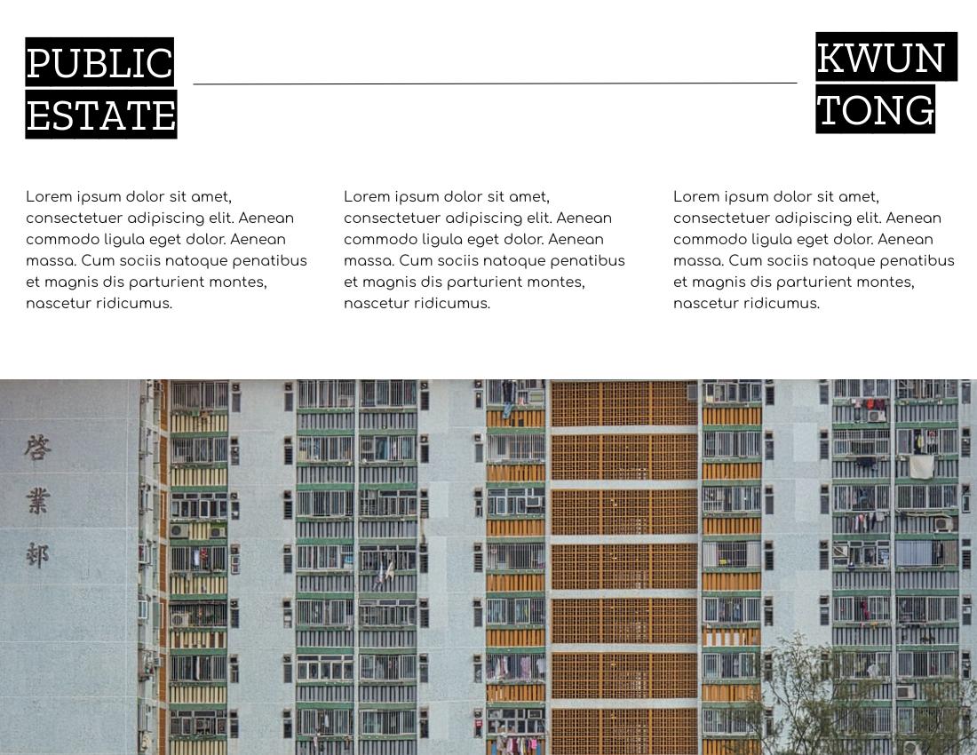 Brochure template: Public Estate Brochure (Created by InfoART's Brochure marker)