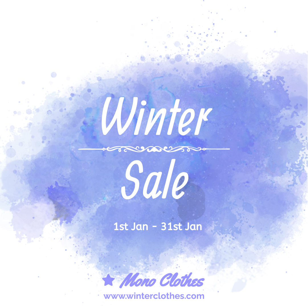 Instagram Post template: Simple Winter Sale Instagram Post (Created by InfoART's Instagram Post maker)