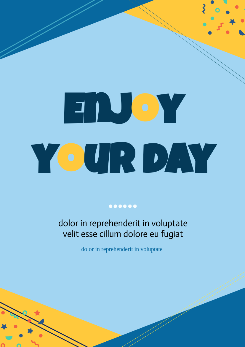 Flyer template: Enjoy Your Day (Created by InfoART's Flyer maker)