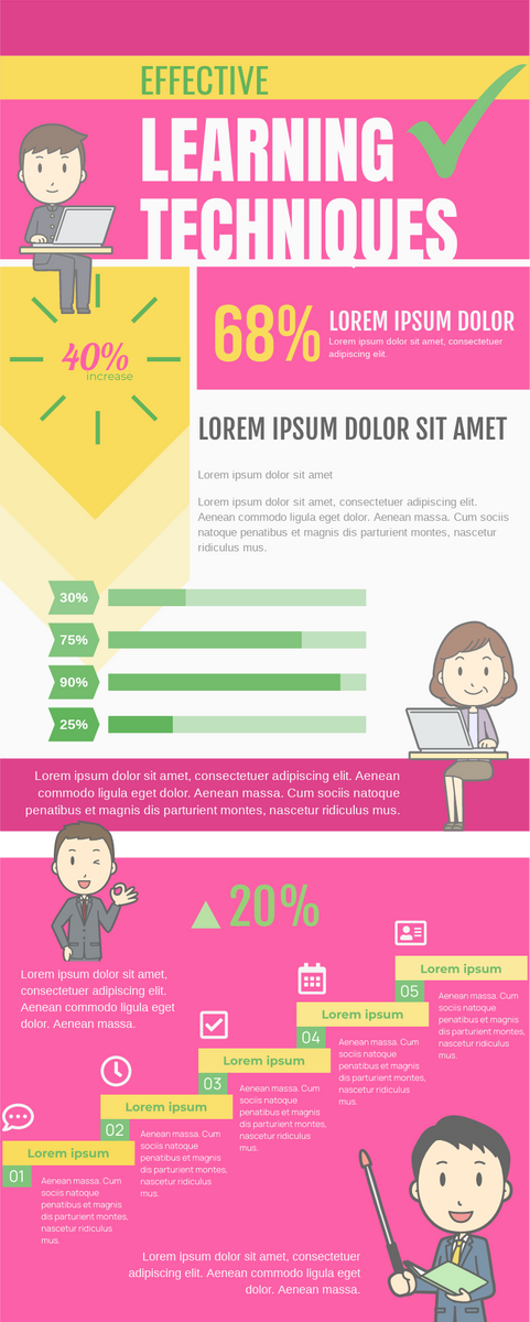 Infographic template: Effective Learning Techniques Infographic (Created by InfoART's Infographic maker)