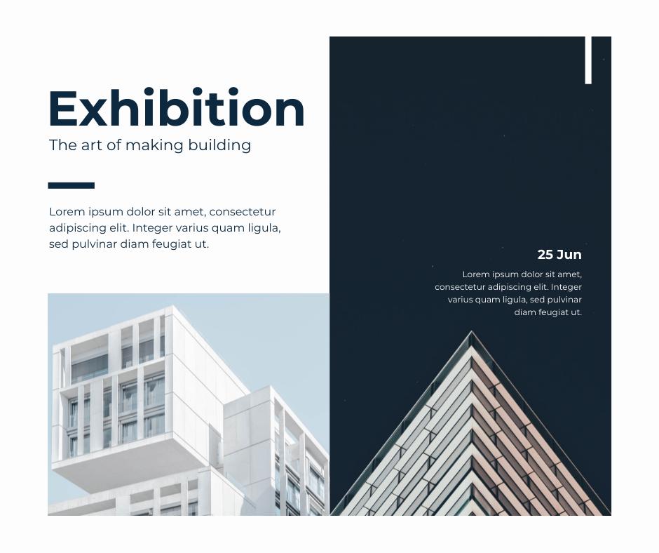 Facebook Post template: Architecture Exhibition Facebook Post (Created by InfoART's Facebook Post maker)