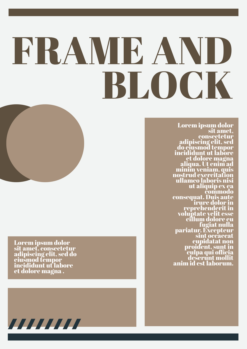 Poster template: Frame And Block Poster Design (Created by InfoART's Poster maker)