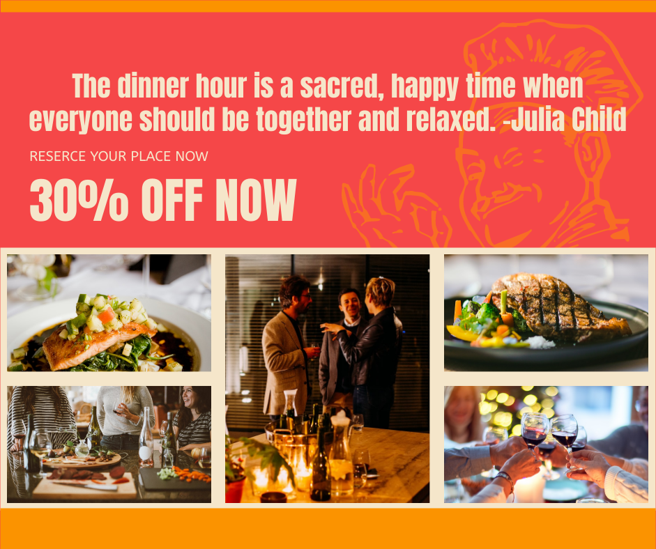 Facebook Post template: Happy Dinner Facebook Post (Created by Collage's Facebook Post maker)