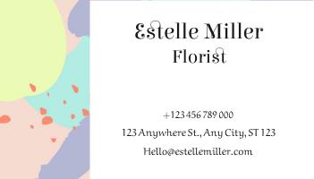 Business Card template: Colorful Pastel Florist Business Card (Created by InfoART's Business Card maker)