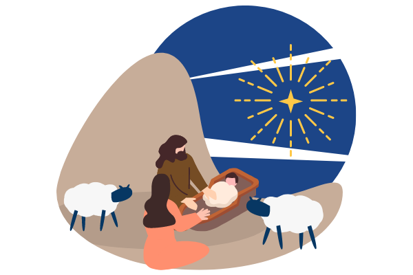 illustrations.templates.festival.type-name template: Christmas Jesus Illustration (Created by Scenarios's illustrations.templates.festival.type-name maker)