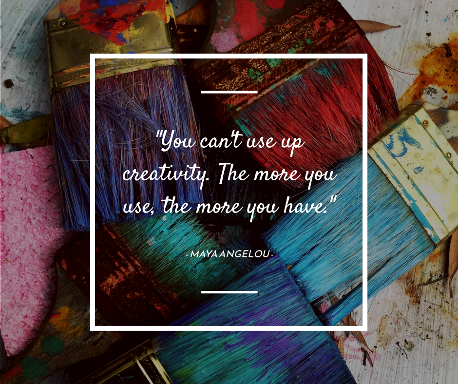Facebook Post template: Painting Brush Art Inspirational quote Facebook Post (Created by InfoART's Facebook Post maker)