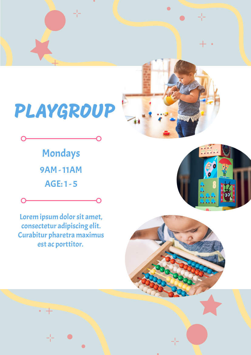 Flyer template: Playgroup flyer (Created by InfoART's Flyer maker)