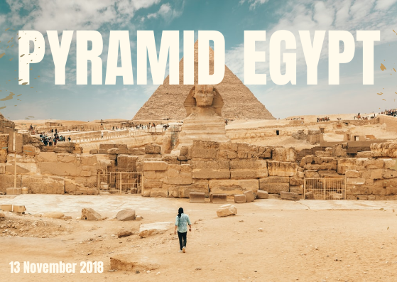 Post Card template: Pyramid Egypt Post Card (Created by InfoART's Post Card marker)