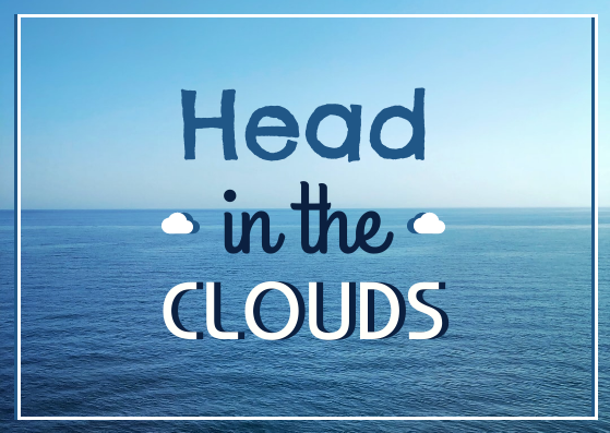 Post Card template: Head In The Cloud Post Card (Created by InfoART's Post Card marker)