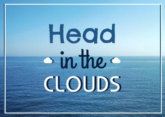 Postcard template: Head In The Cloud Postcard (Created by InfoART's Postcard maker)