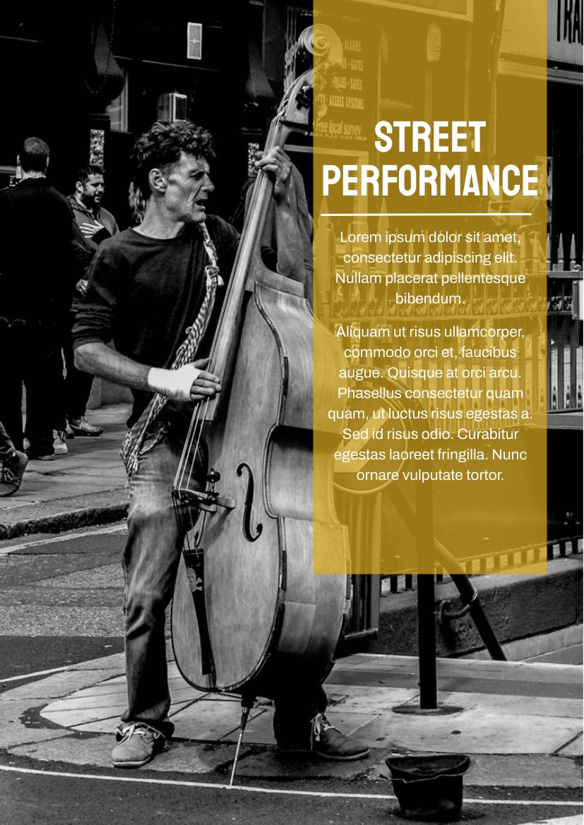 Flyer template: Street Performance Flyer (Created by InfoART's Flyer maker)
