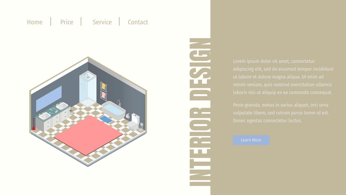 Isometric Diagram template: Bathroom Header (Created by InfoART's Isometric Diagram marker)