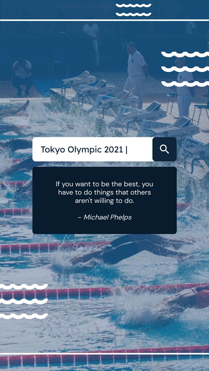 Instagram Story template: Swimming Tokyo Olympics 2021 Instagram Story (Created by InfoART's Instagram Story maker)