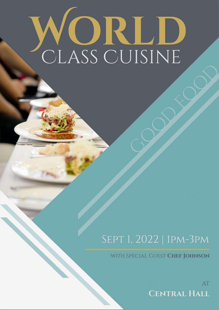 Poster template: World Class Cuisine (Created by InfoART's Poster marker)