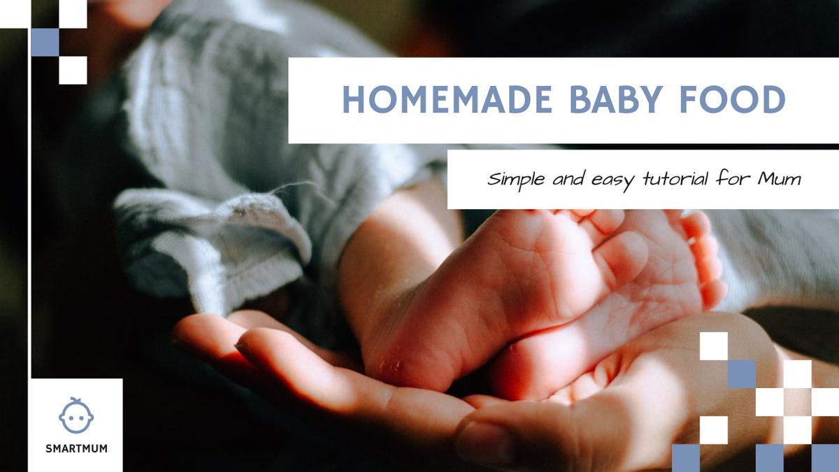 YouTube Thumbnail template: Baby Photo Homemade Baby Food Recipe YouTube Thumbnail (Created by InfoART's YouTube Thumbnail maker)