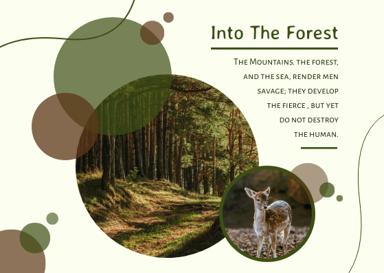 Postcard template: Into The Forest Postcard (Created by InfoART's Postcard maker)