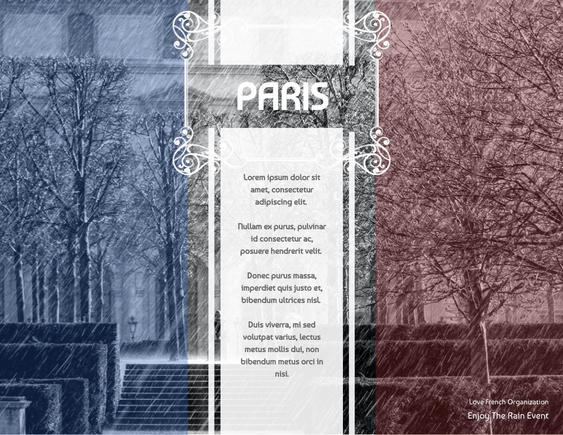 Brochure template: Paris Under Rain Brochure (Created by InfoART's Brochure maker)