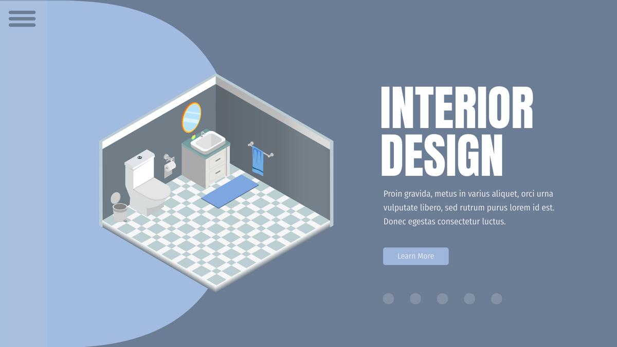 Isometric Diagram template: Interior Design Bathroom (Created by InfoART's Isometric Diagram maker)