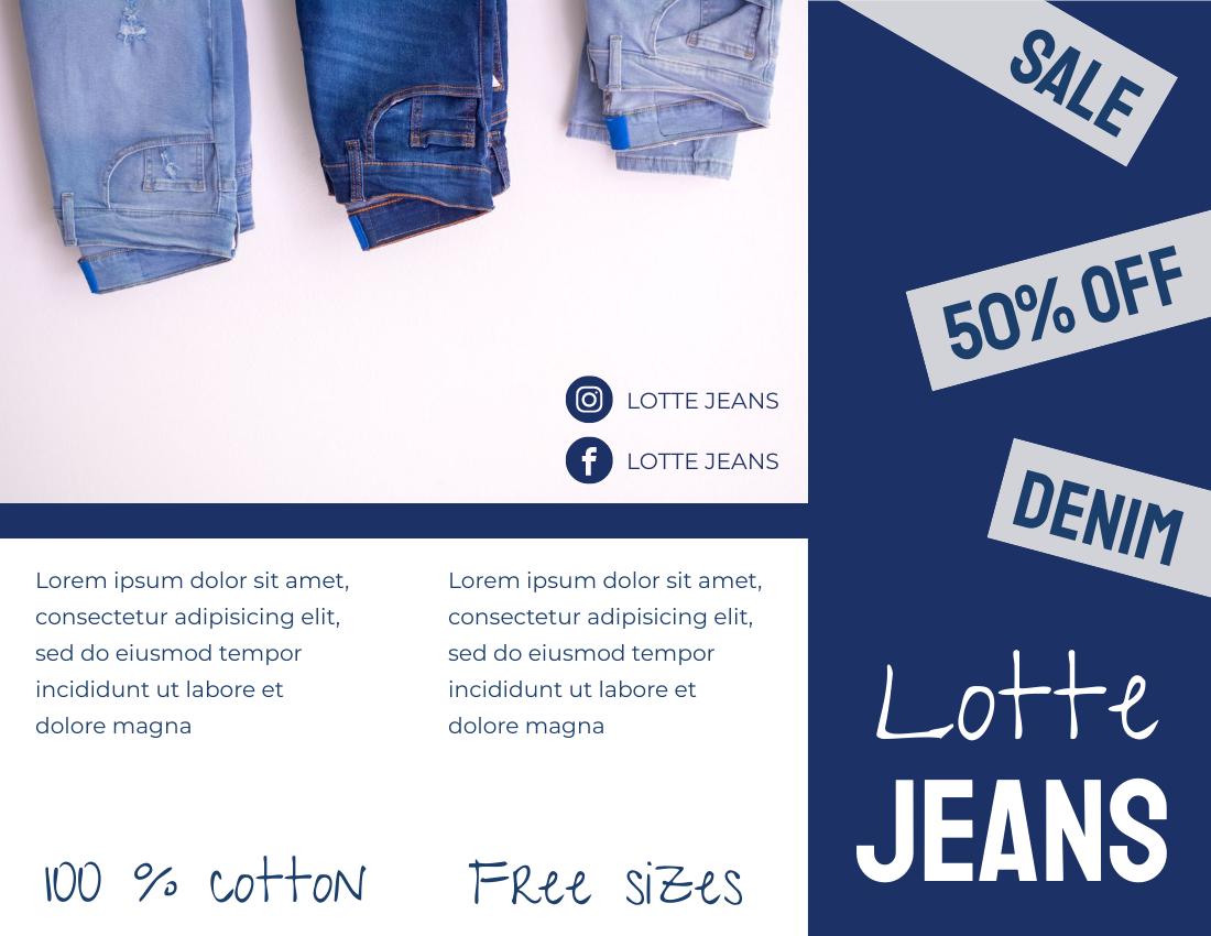 Brochure template: Jeans Brochure (Created by InfoART's Brochure marker)