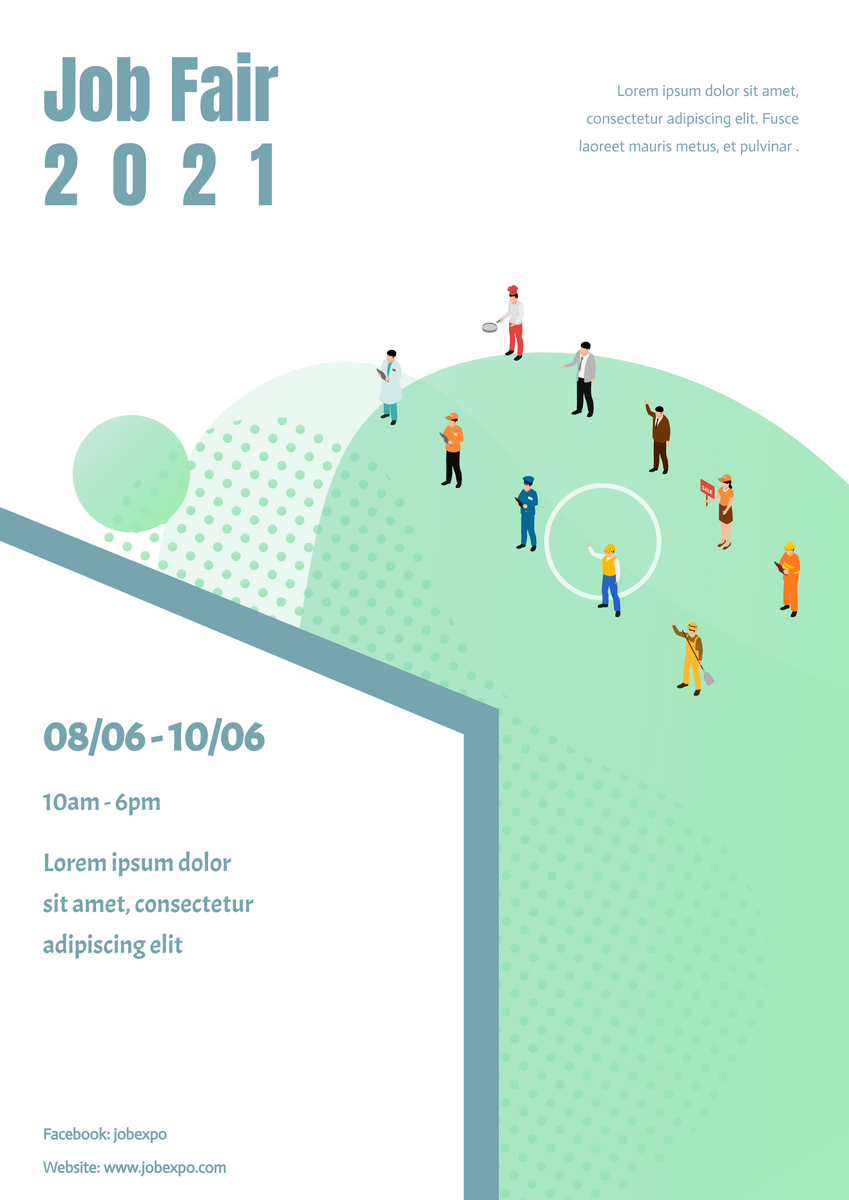 Poster template: Job Expo poster (Created by InfoART's Poster maker)