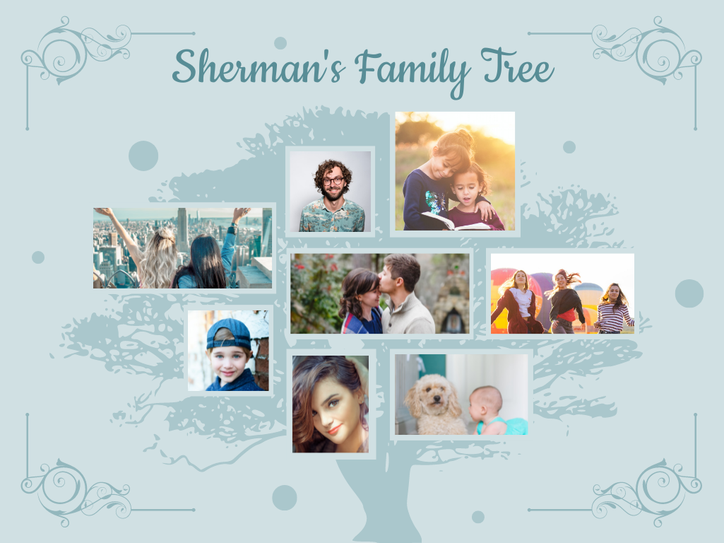 Family Tree template: Elegant Family Tree (Created by Collage's Family Tree maker)