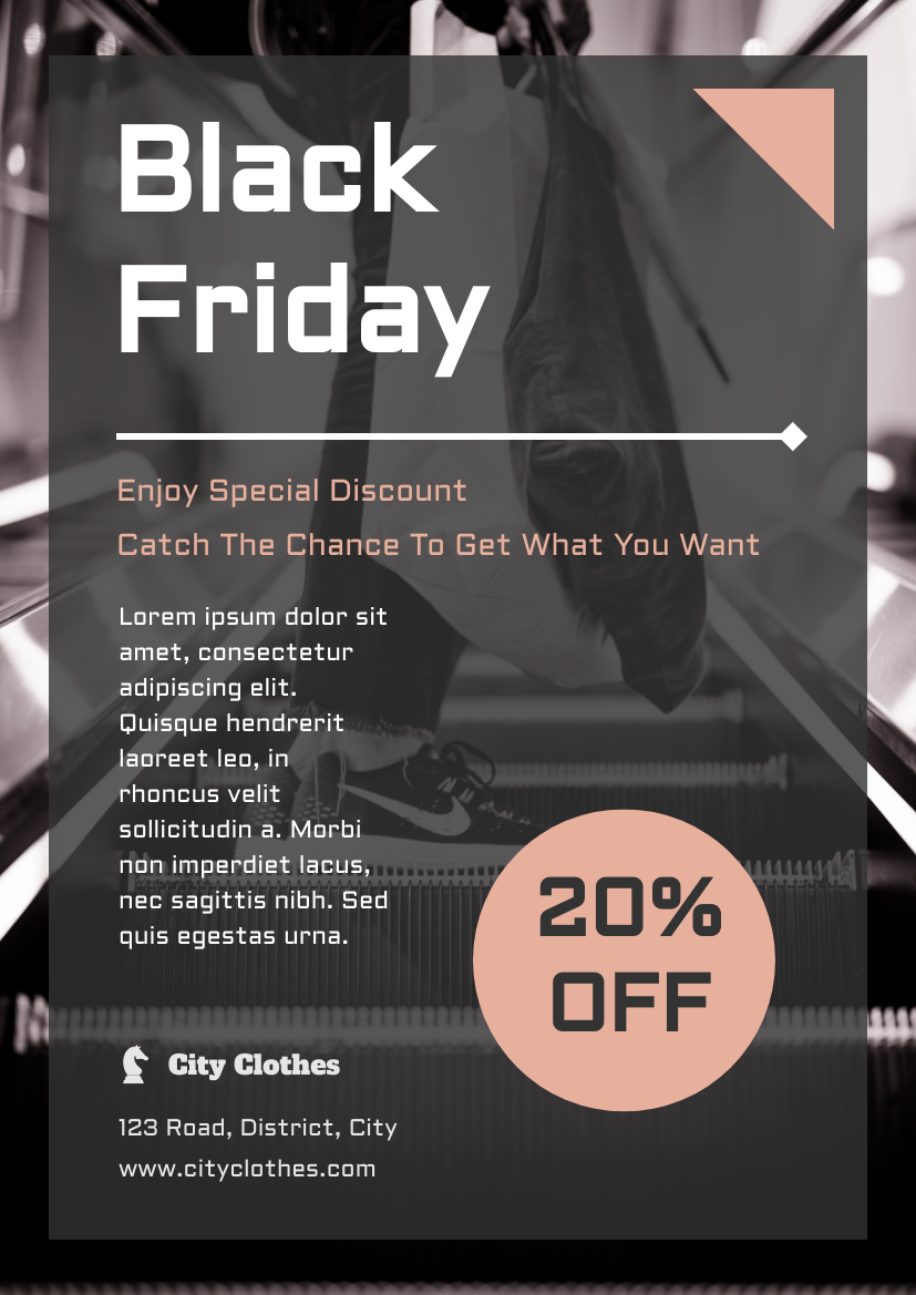 Flyer template: Black Friday Informative Flyer (Created by InfoART's Flyer maker)