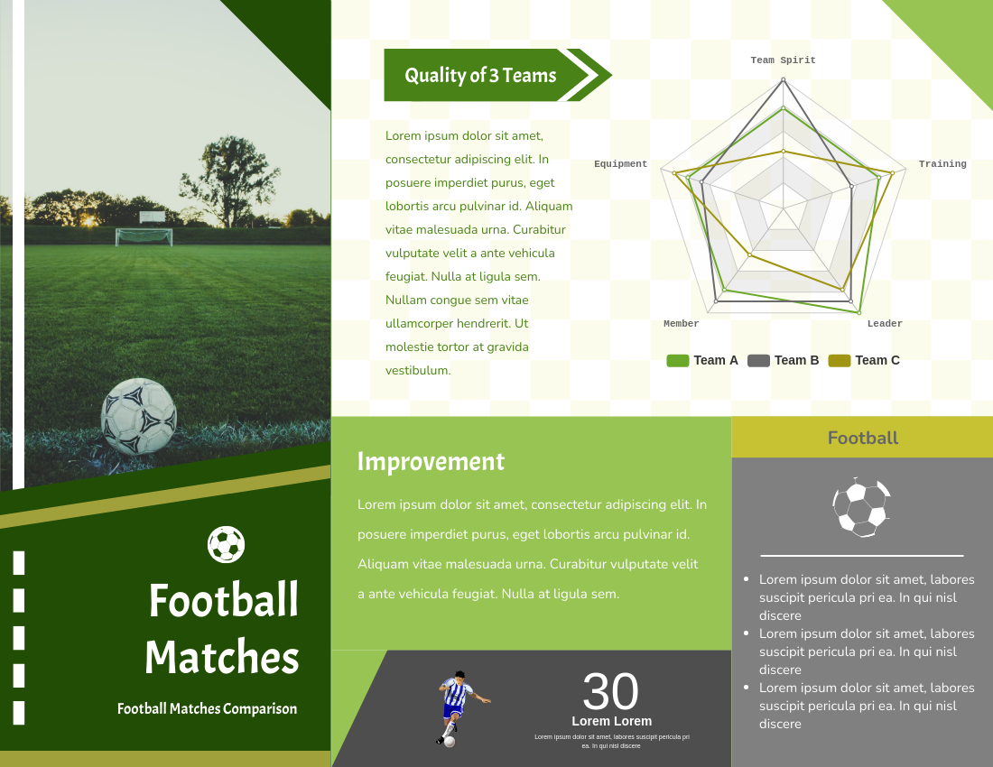Brochure template: Football Matches Brochure (Created by InfoART's Brochure marker)
