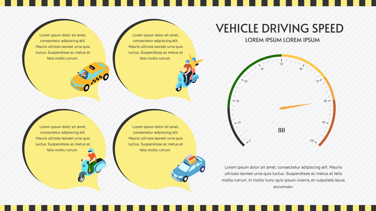 Gauge Chart template: Vehicle Driving Speed Gauge Chart (Created by Chart's Gauge Chart maker)