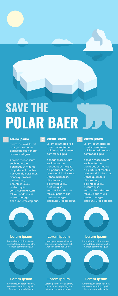 Infographic template: Save The Polar Bear Infographic (Created by InfoART's Infographic maker)
