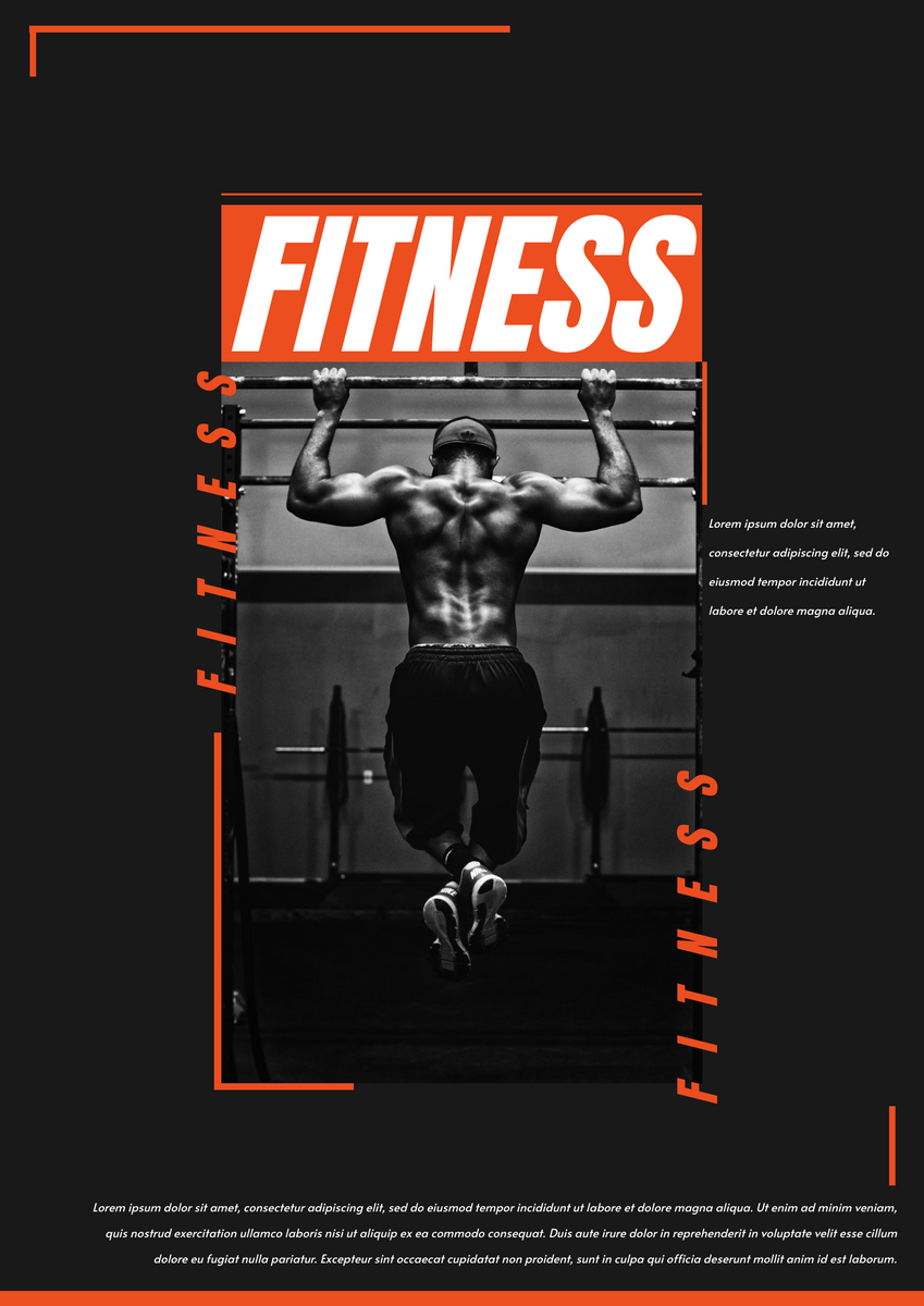 Poster template: Fitness Poster (Created by InfoART's Poster marker)