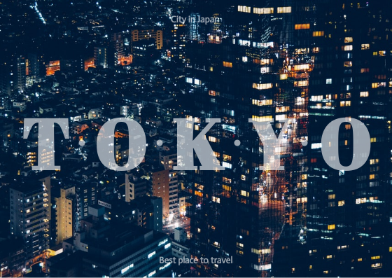 Post Card template: Tokyo Post Cards (Created by InfoART's Post Card marker)