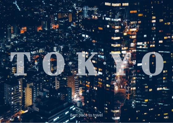 Postcard template: Tokyo Postcard (Created by InfoART's Postcard maker)