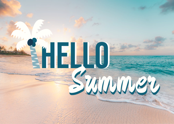 Post Card template: Hello Summer Postcard (Created by InfoART's Post Card marker)