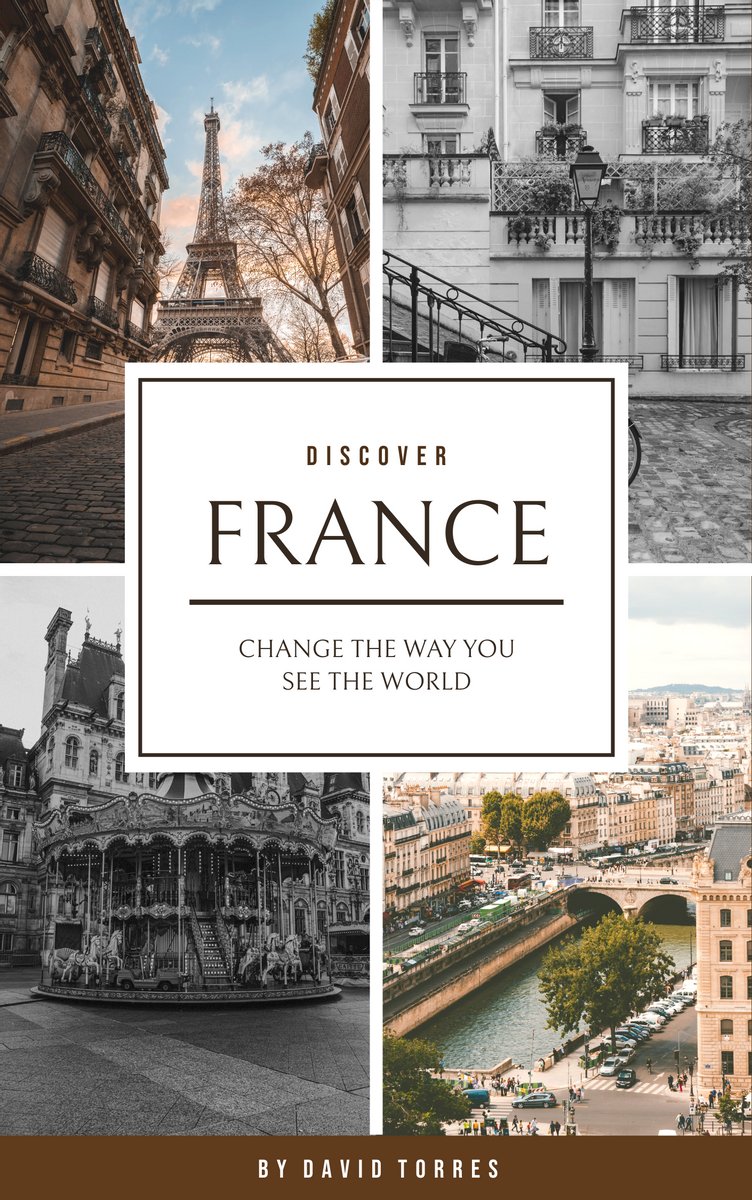 Book Cover template: Travel The World Travel Book Cover (Created by InfoART's Book Cover maker)