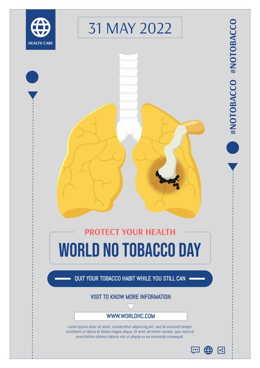 Poster template: Global No Tobacco Day Poster (Created by InfoART's Poster maker)