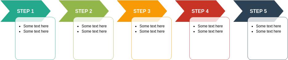 Process Block Diagram template: Chevron Accent Process (Created by Diagrams's Process Block Diagram maker)