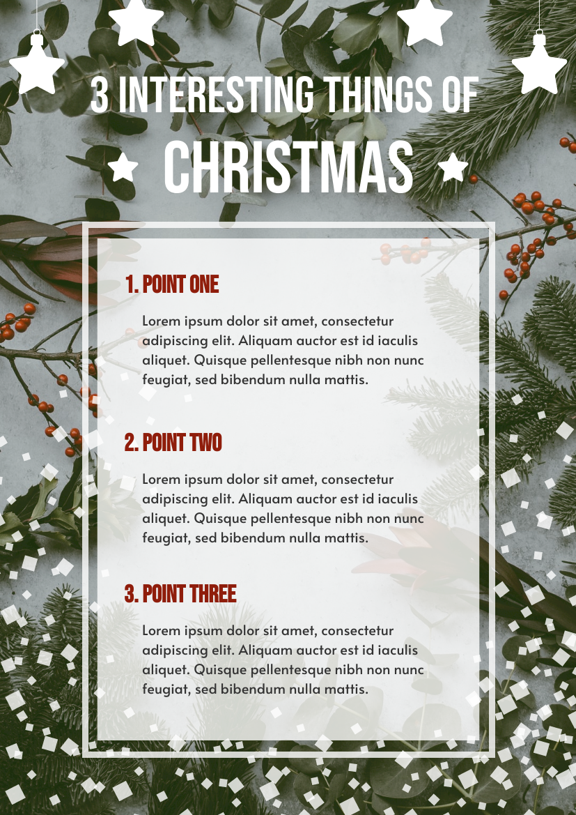 Flyer template: 3 Interesting Things Of Christmas Flyer (Created by InfoART's Flyer maker)