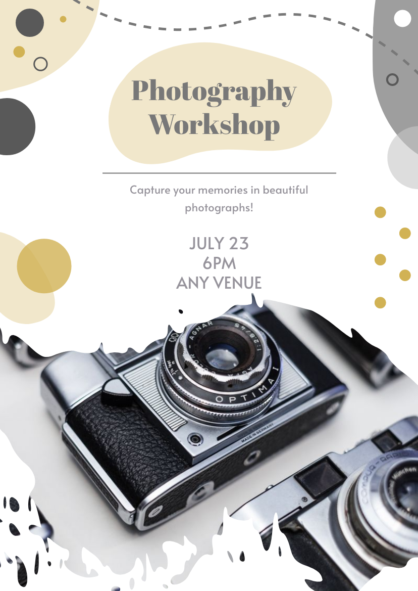 Flyer template: Photography Workshop Flyer (Created by InfoART's Flyer maker)
