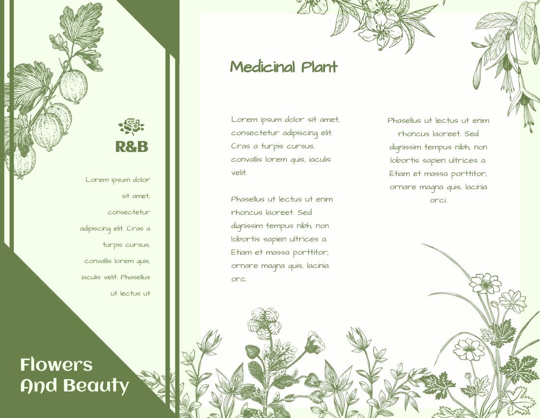 Brochure template: Medicinal Plant Brochure (Created by InfoART's Brochure marker)