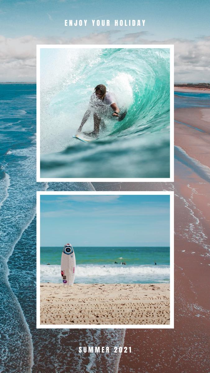 Instagram Story template: Enjoy Your Holidays Polaroid Frames Instagram Story (Created by InfoART's Instagram Story maker)