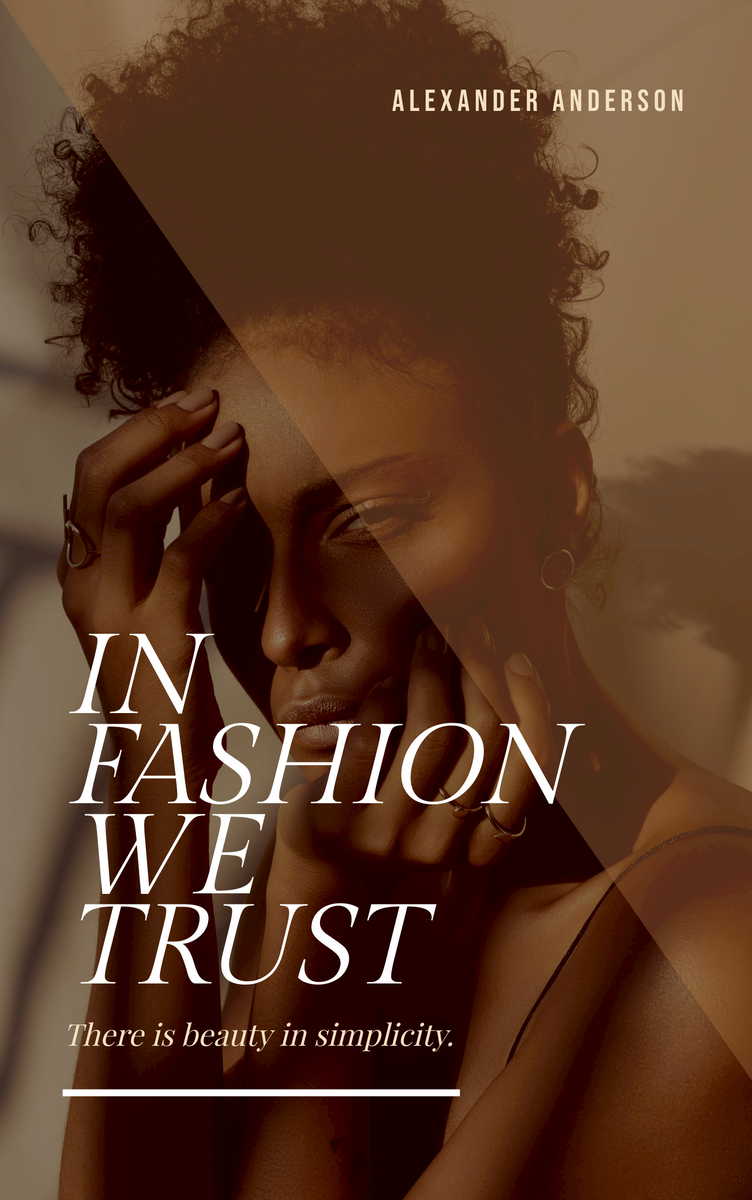 Book Cover template: In Fashion We Trust Book Cover (Created by InfoART's Book Cover maker)