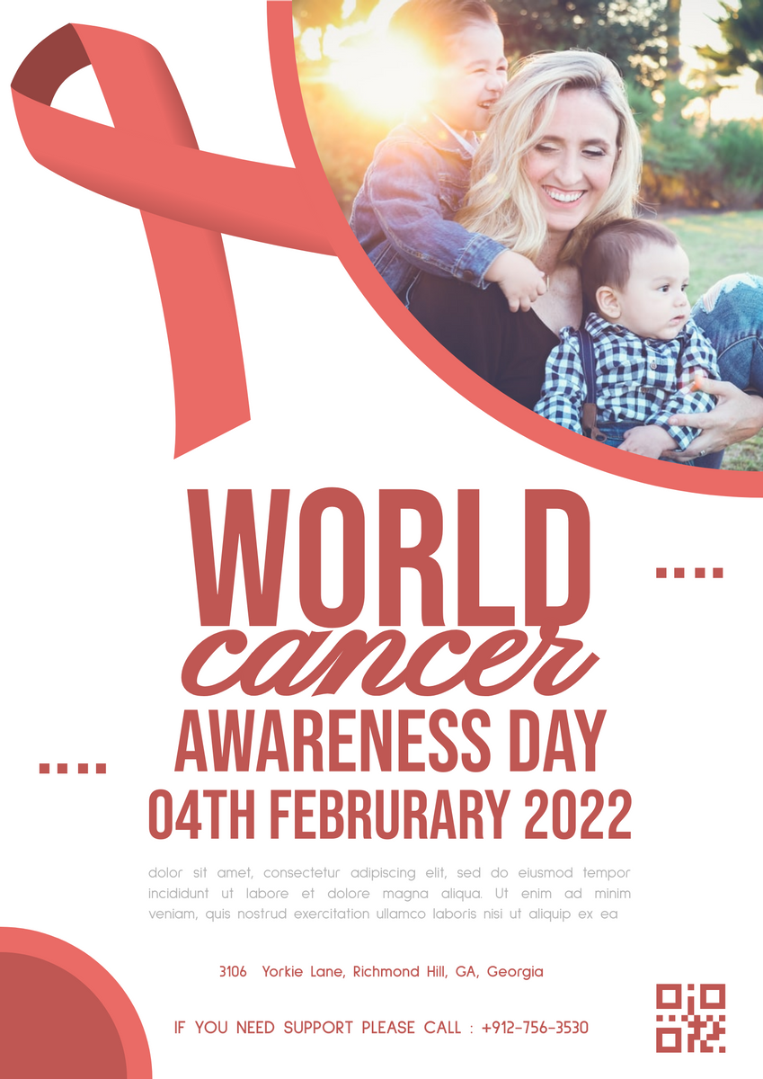 Poster template: World Cancer Awareness Day Poster (Created by InfoART's Poster maker)