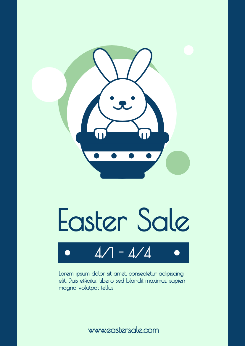 Flyer template: Simple Green Easter Sale Flyer (Created by InfoART's Flyer maker)