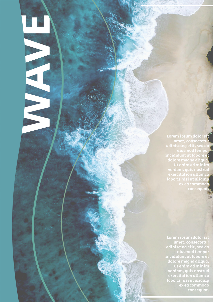 Poster template: Wave Poster (Created by InfoART's Poster maker)