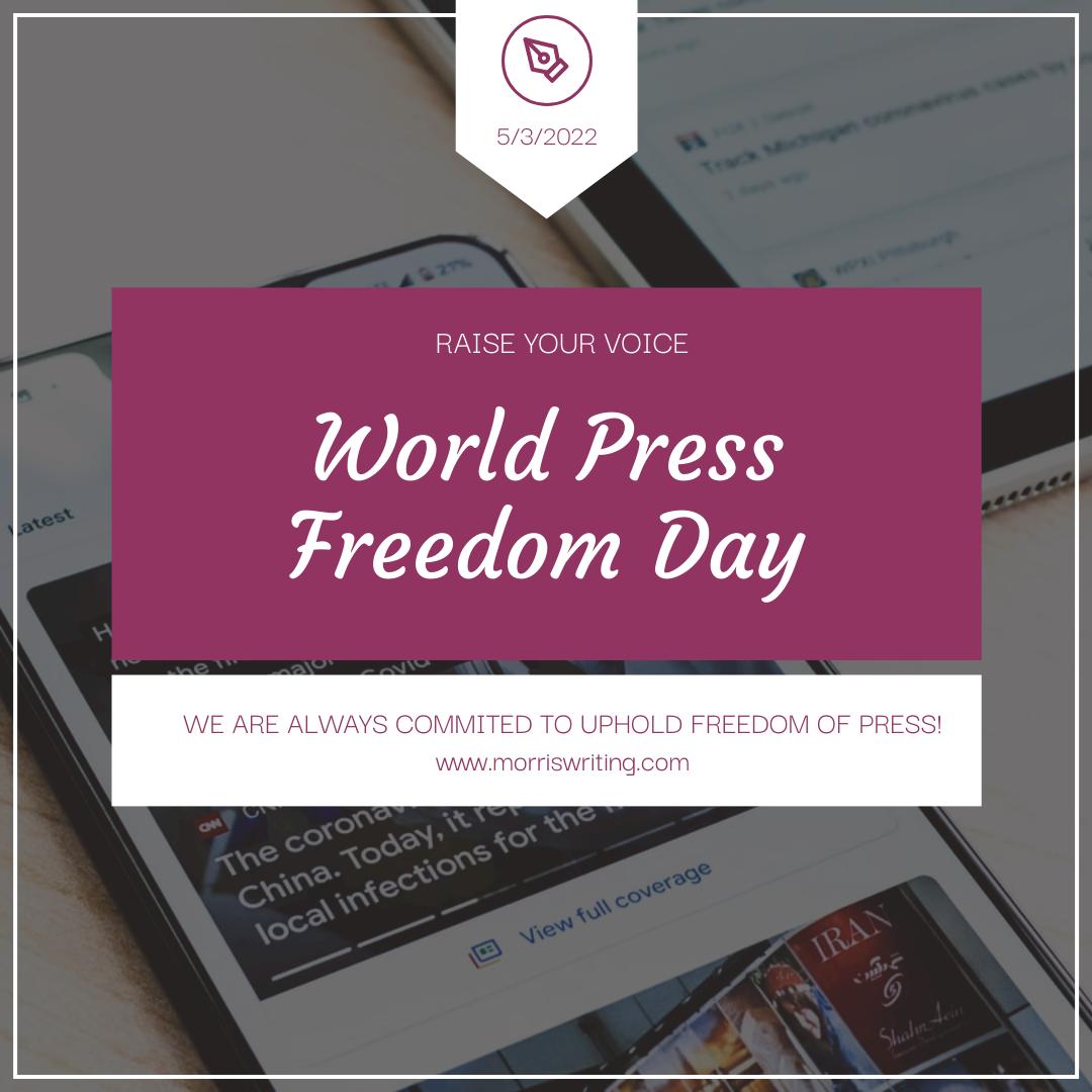 Instagram Post template: Purple Press Photo World Press Freedom Day Instagram Post (Created by InfoART's Instagram Post maker)