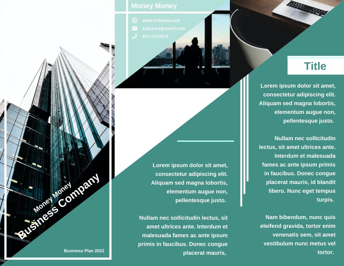 Brochure template: Introduction Of Business Company Brochure (Created by InfoART's Brochure maker)