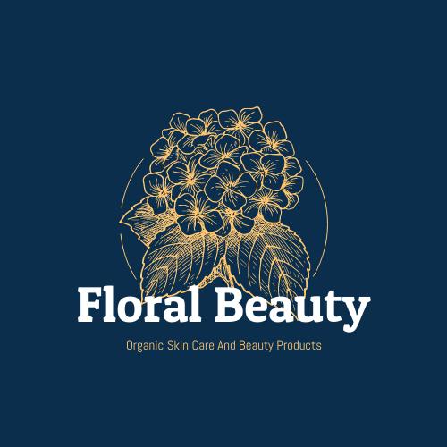 Logo template: Elegant Beauty Company Logo Designed With Illustration Of Flowers (Created by InfoART's Logo maker)