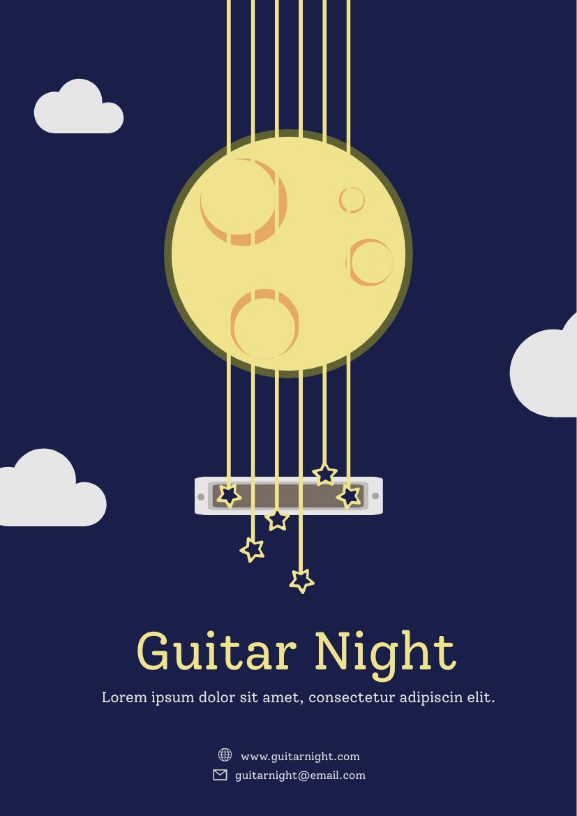 Flyer template: Guitar Night Flyer (Created by InfoART's Flyer maker)